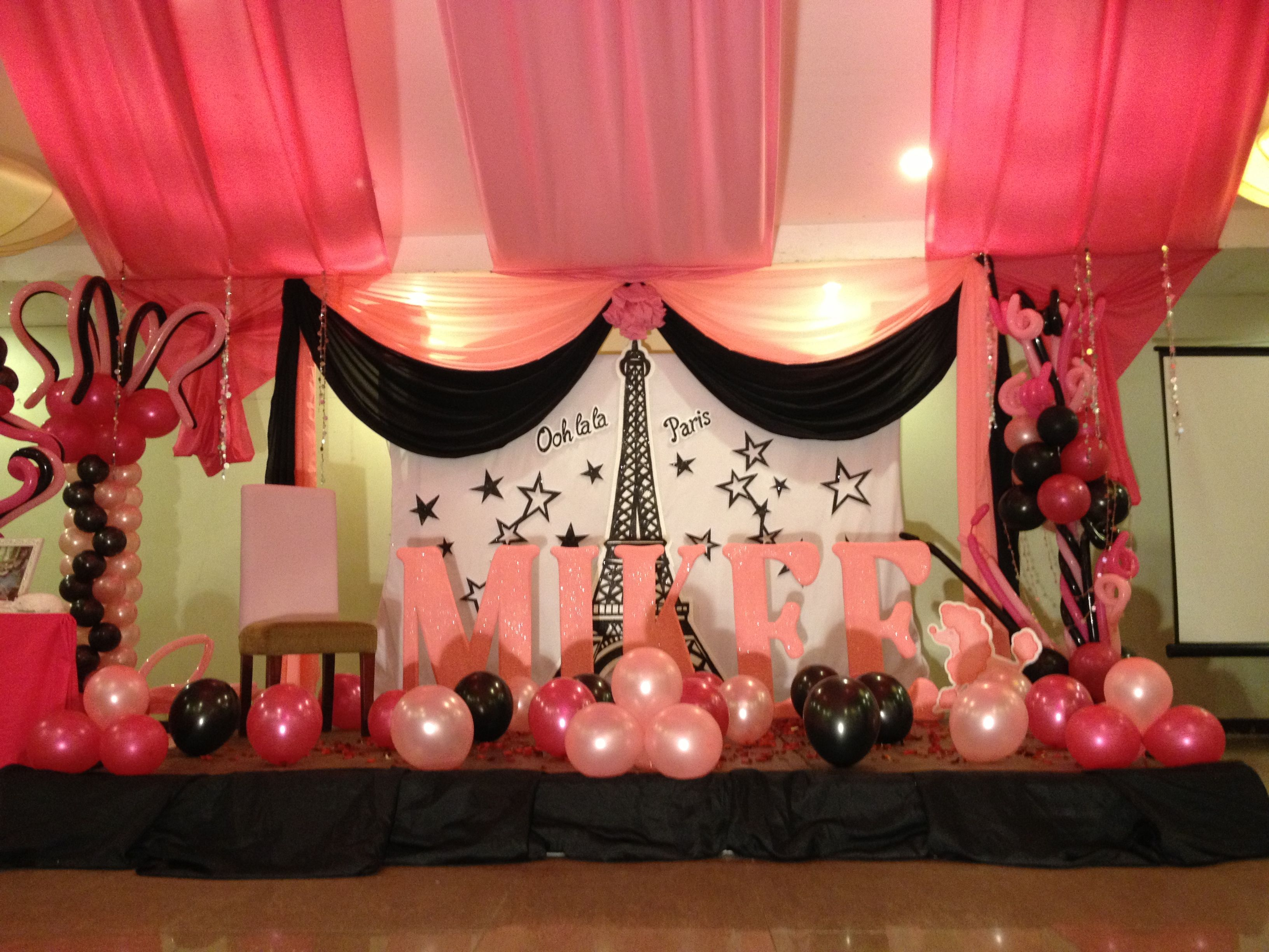 Decoration design for party