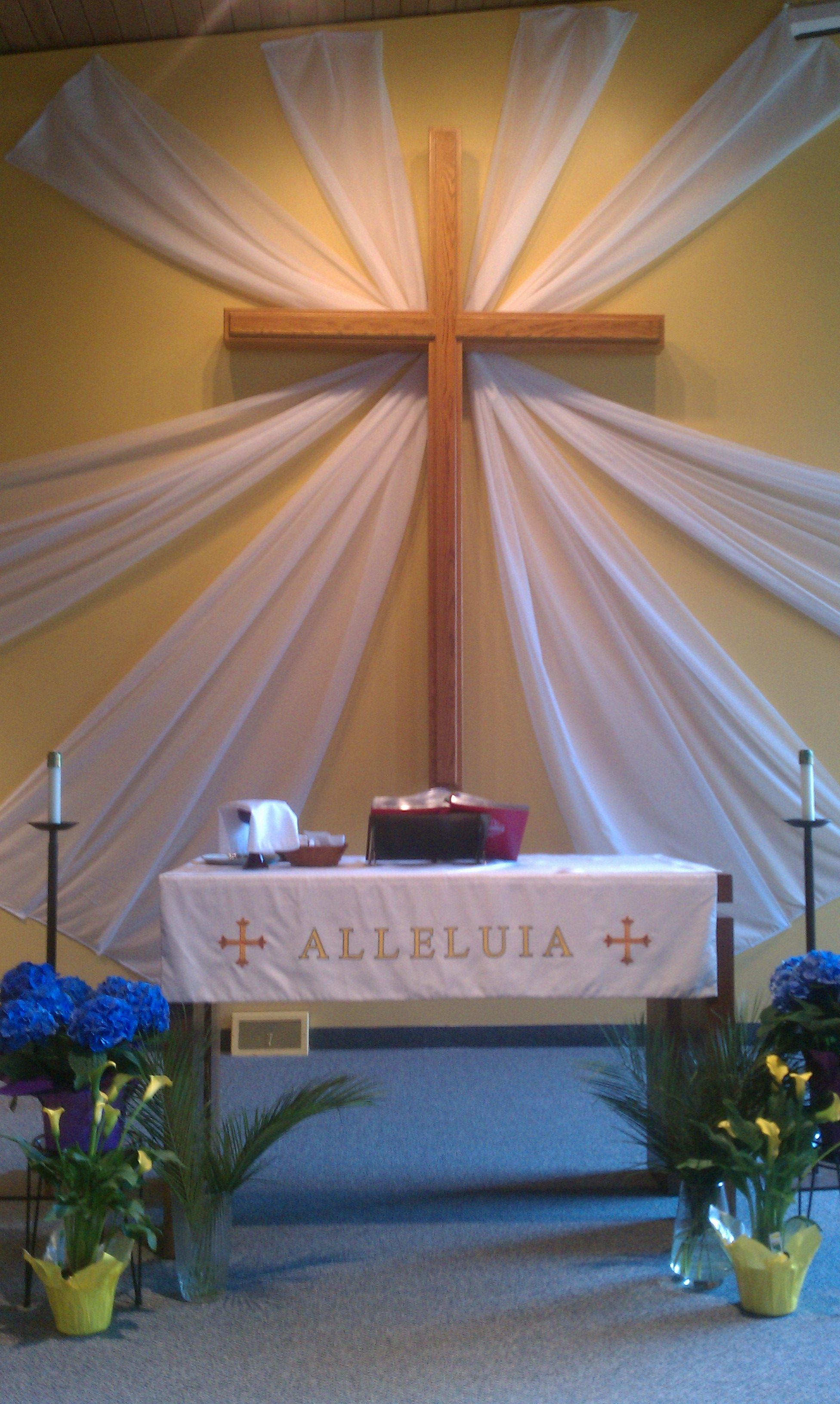 Decoration design for church altar